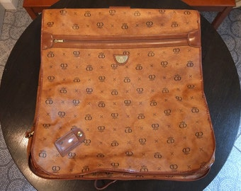 VINTAGE CD LUGGAGE / Vintage Clothing Bag / Garment Bag / Traveller Bag
