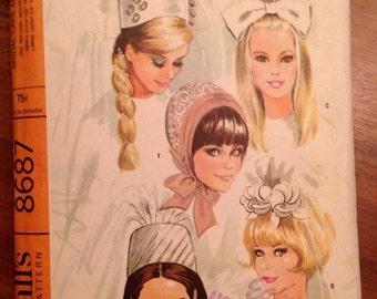 Vintage 60s Bridal Veil Pattern in 5 Variations