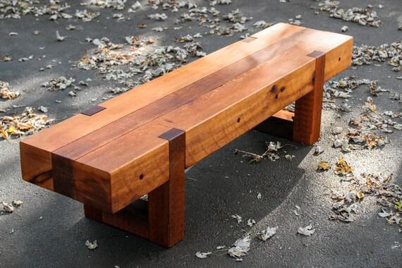rustic modern outdoor garden bench | wood bench rustic modern outdoor patio garden cedar