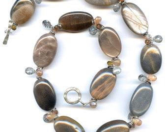 Sunstone And Multigem Necklace FD713