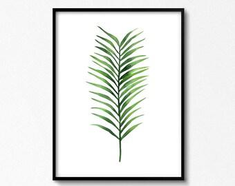 Palm printable, Tropical Prints, Palm Leaf Print, Tropical Art, Green Decor, Palm Tree Decor, Tropical Decor, Wall Art, Poster, Nature Art.