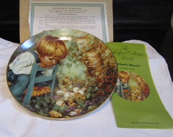 Michael's Miracle Plate By Nancy Turner 1st Issue Original Box & Certificate Of Authenticity