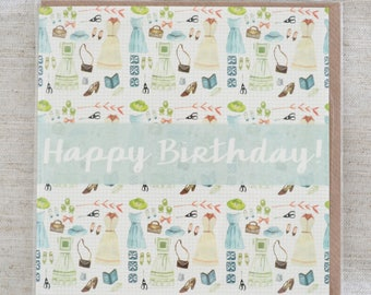 Pretty Dresses Birthday Card