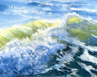 Crashing Wave breaking on the seashore