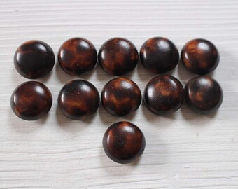 Matching set of vintage faux tortoise shell buttons