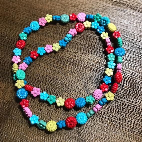 Rainbow Daisy Chain Choker