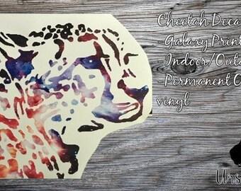 Galaxy Print Cheetah Decal
