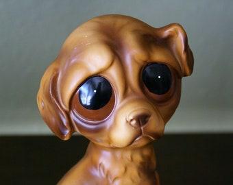 Vintage Gig Style Big Eyed Puppy Figurine