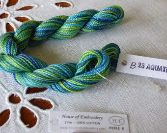 Beaded No. 8 HOUSE OF EMBROIDERY collar 28 B AQUATIC