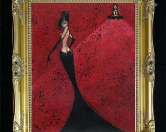 Black Widow Art Print, Nude Female, Boudoir Artwork, Bedroom Decor, Gift for Her, Erotic Wall Hanging Boho Illustration,Bohemian Decor Shano