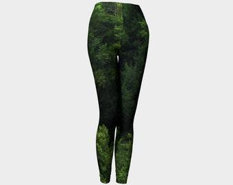 Tree Leggings//Green Leggings//Fashion Leggings//Nature Leggings//Wearable Art//Made to Order