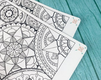 Full Page A5 Layered Mandala Coloring Sticker