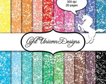 Sparkling Glitter Digital Scrapbook Printable Paper