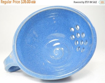 ON SALE Berry Bowl - Drainer Dish - Pottery Colander - Colander - Strainer - Berry Colander - Ceramic Strainer - Berry Basket - In Stock