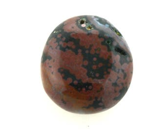 Ocean jasper, orbicular jasper  polished pebble