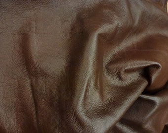 """Leather 12""""x12"""" KING Reddish Brown SOFT Rich Slightly Marbled Cowhide 3oz/1.2mm PeggySueAlso™ E2881-15 Full Hides Available"""