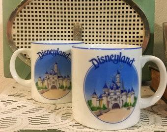 Walt Disney Sleeping Beauty's Castle Small Mugs Japan