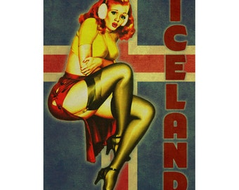ICELAND 1PS- Handmade Leather Journal / Sketchbook - Travel Art