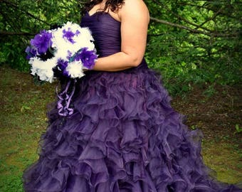 Purple Wedding Dress Custom Made to Your Measurements by Award Winning Bridal Salon