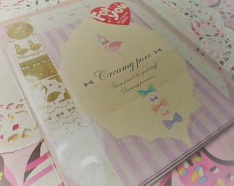 Kawaii 13 Pc. Letter Stationery Set Kamio Japan Creamy Pure great for scrapbooking, Snail Mail, Pen pal, School, Stationery, Letters, Diy.