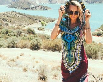 Day Tripper Hoodie Dress, Festival Clothing, Festival, Tribal, African, Shaman, sexy tribal dress, burning man, festival dress, psy