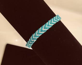 Handwoven Chevron Threaded Bracelet