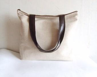 Large tote bag, Large linen tote bag, heavy duty tote bag, oversized tote bag, carry all bag, multi purpose bag
