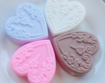 Victorian Heart Soaps Set