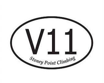 V11 Rock Climbing Sticker - V Scale Stickers - Bouldering - Rock Climbing - Rock Climber Gift - Climbing Accessories - Climbing Grade
