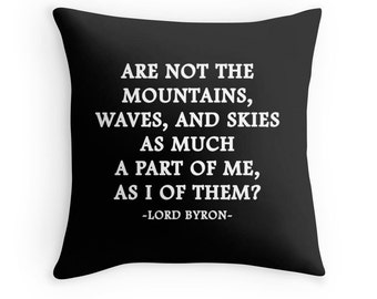 Lord Byron Quote, Mountain Quote, Ocean Quote, Mountain Print, Ocean Quote, Literature Print, Literature Quote, Poetry Print, Poem Print