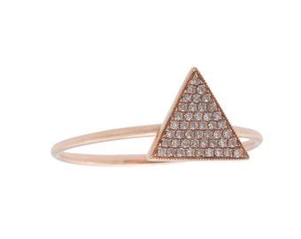 Triangle Shape Diamond Ring