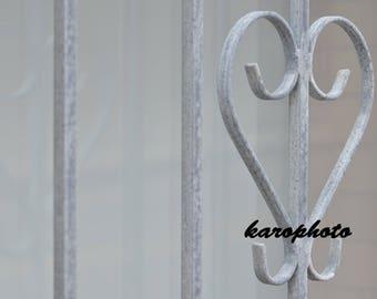 Decorative metal heart photography