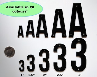 "1"" Acrylic Letters Numbers Laser Cut Supplies Available in 5 sizes and 20 colours"