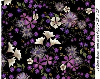 Enchanted Garden Floral black