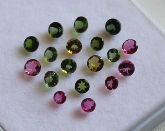 3 mm Round Multi-Color Tourmaline Faceted AAA Quality-Top Quality Tourmaline
