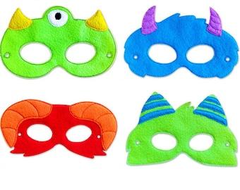 Monster Face Masks | Party Masks | Halloween Masks | Monster Birthday Party | Birthday Party Masks | Dress Up | Costume | Party Favor
