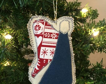 Angel fabric Christmas Tree Ornament