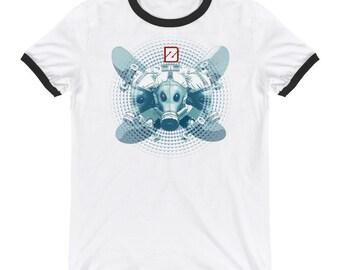 3 Headed cross board / Ringer T-Shirt