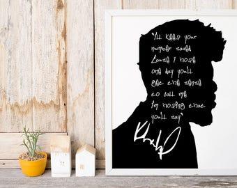 "Khalid ""I'll Keep Your Number"" Art Print"