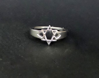 Star of David Ring/ Sterling Silver Star of David Ring/ Religious Ring
