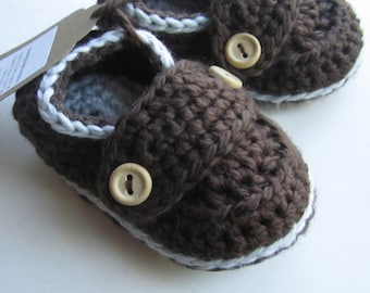 Baby Booties, Organic Cotton Loafers, baby slippers // You Choose size and color