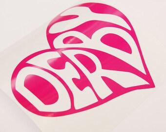 Roller Derby Sticker-Derby Heart Die Cut