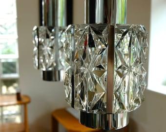 1960s Belgian 3 Pendant Ceiling Light