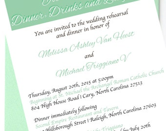 Before Happily Ever After Rehearsal Dinner Invitation Customized Printable