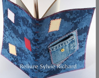 Recycled Jeans notebook #2 – personal diary – blank book – travel journal – sketchbook, drawing, poems, calligraphy…soft cover - bookbinding