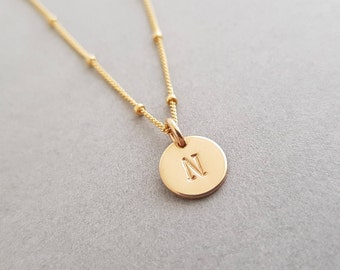 Personalised Necklace minimalist gold initial Gold filled Choker Chain personalised gift for mum women best friend valentines day necklace