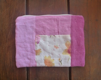 Perfectly pretty pink patchwork pouch