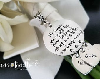 Memorial Bouquet Charm, Wedding Bouquet Charm, Bridal Bouquet Charm, Remembrance Charm, Bridal Shower Gift, We Know You Would Be Here Today