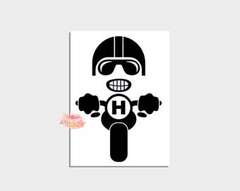 Personalized Gift Motorcycle Gift Biker Gift Chopper Decal Yeti Cup Rtic Mug Instant Pot Car Decal Water bottle label Harley Gift for him