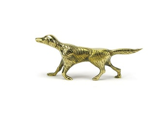 FREE SHIP! Vintage Brass English Pointer Dog Figurine - Retriever Hound Puppy -Dog Lover Gift - Hunting Dog Statue - Cake Topper Labrador